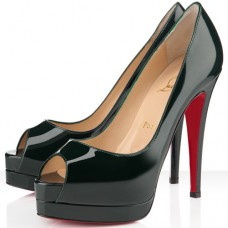 Christian Louboutin Altadama 140mm Peep Toe Pumps Green