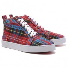 Christian Louboutin Louis TarTaupe Sneakers Red