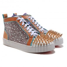 Christian Louboutin Louis Spikes Sneakers Multicolor
