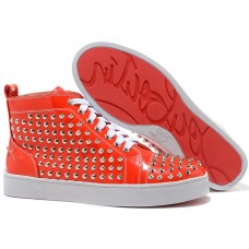 Christian Louboutin Louis Spikes Sneakers Orange