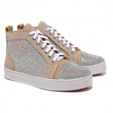 Christian Louboutin Louis Strass Sneakers Taupe