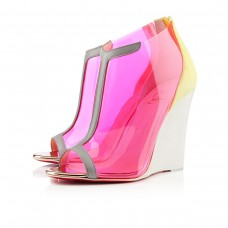 Christian Louboutin Scuba 100mm Wedges Canari/Stone