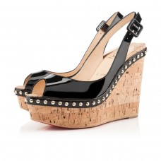 Christian Louboutin Monico 140mm Wedges Black