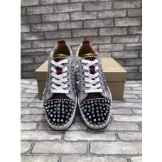 Hot Sale christian louboutin Casual shoes Silver